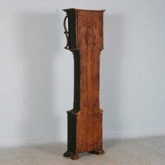 Antique Danish Black Painted Grandfather Clock image 6