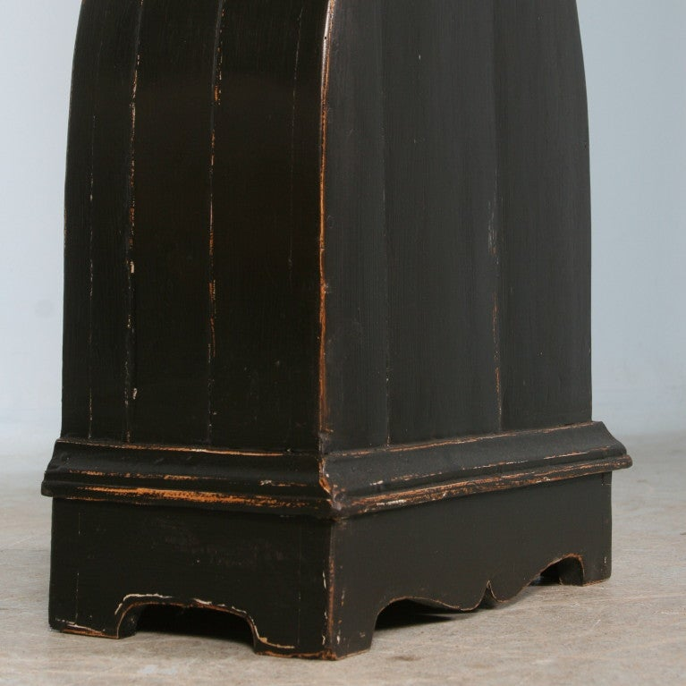 Antique Black Swedish Mora Grandfather Clock, circa 1850 2