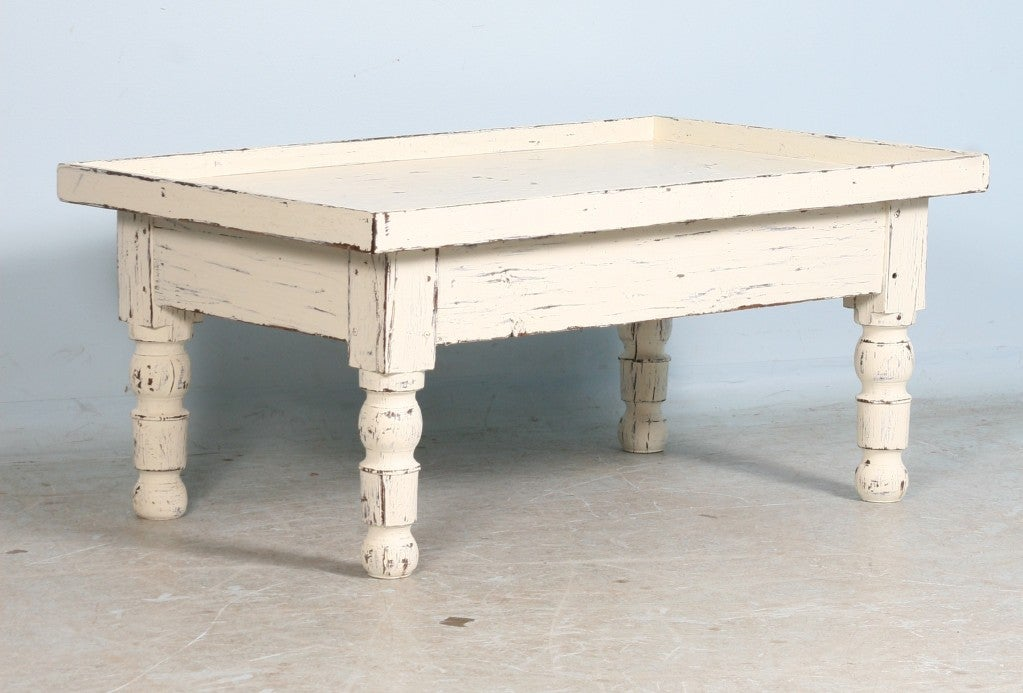 Swedish Antique White Painted Coffee Table At 1stdibs