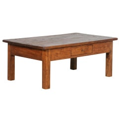 Antique Rustic Danish Pine Coffee Table, Circa 1840-60