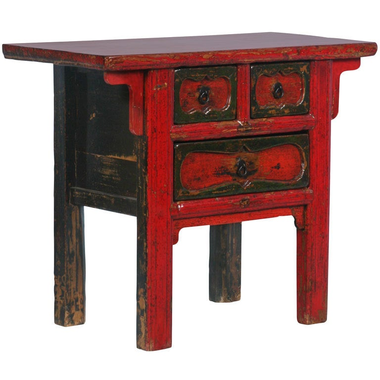 How To Paint Furniture Antique Red