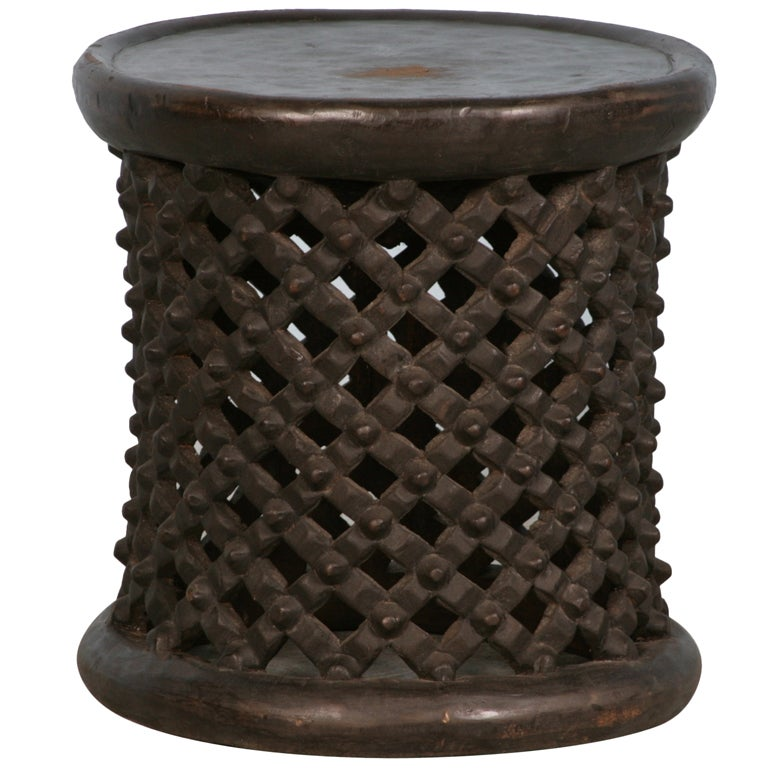 Tree Trunk Coffee Table South Africa: Antique/Vintage African Carved Side Table, Circa 1920