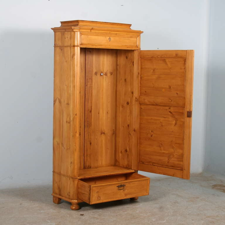 Antique Pine Narrow One Door Armoire Cupboard Circa 1880 At 1stdibs