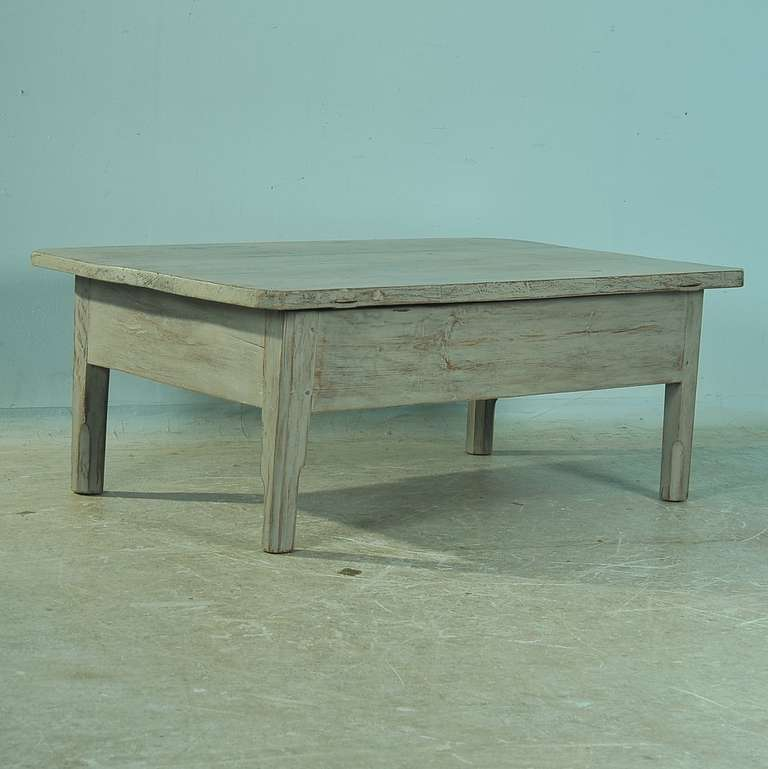 Antique Painted Pine Coffee Table With Single Drawer Circa 1860 80 Image 6