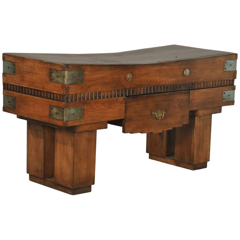 antique french butcher block table circa 1900 at 1stdibs