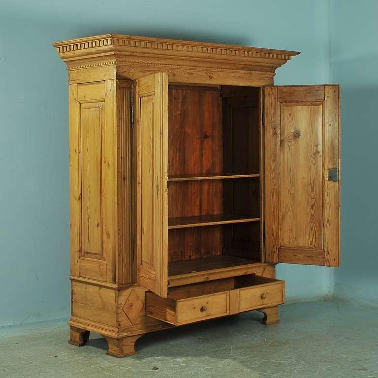 antique large pine armoire louis xvi circa 1790 1820 at. Black Bedroom Furniture Sets. Home Design Ideas