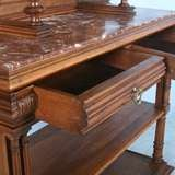 French Carved Antique Marble Top Server Buffet image 3