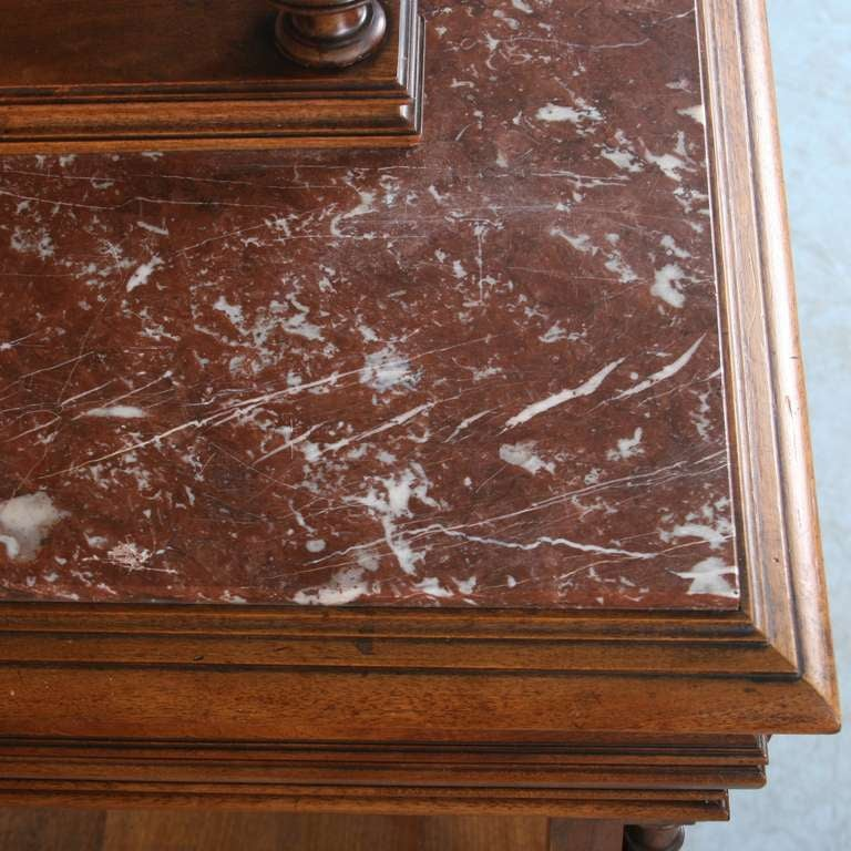 French Carved Antique Marble Top Server Buffet 9