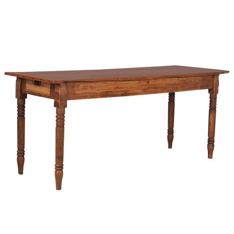 Antique Narrow Pine Table USA at 1stdibs