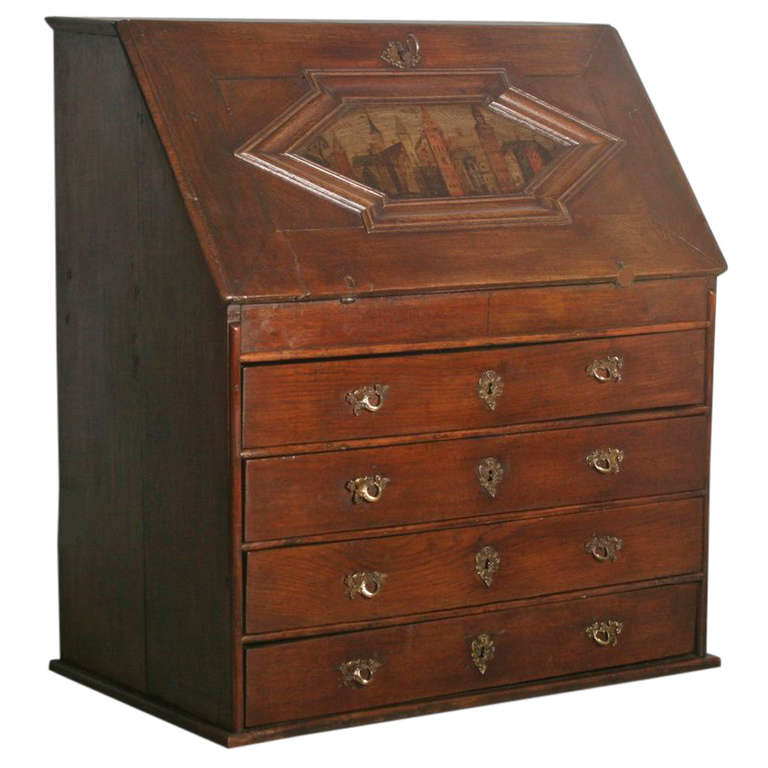 Antique Baroque 18th Century Oak Secretary At 1stdibs