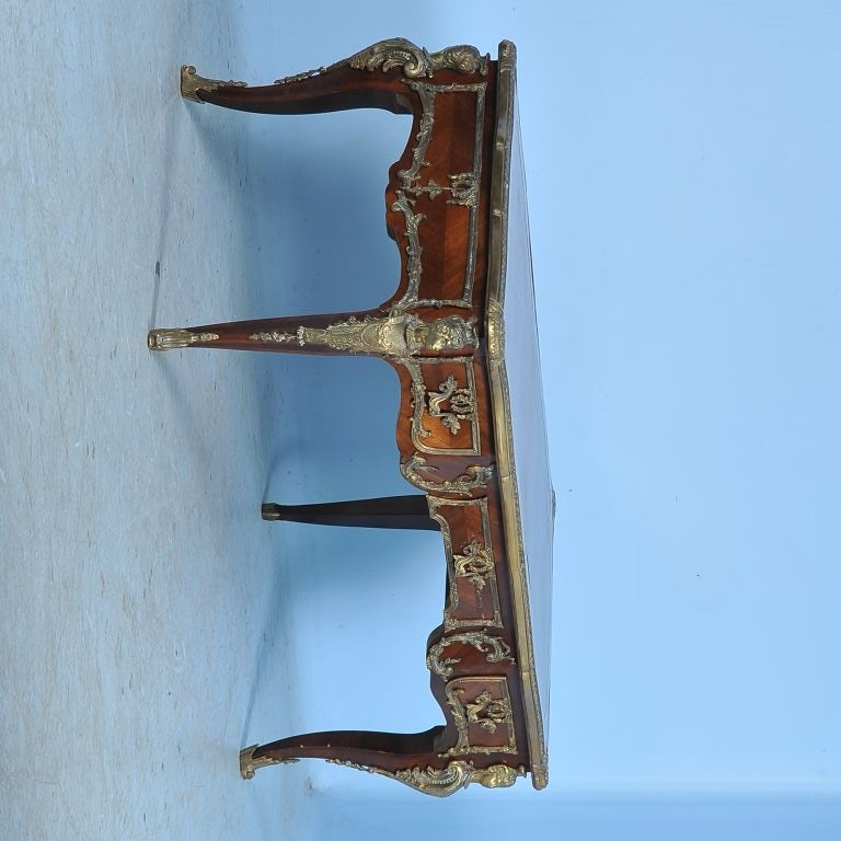 Ornate Antique French Bureau Plat Desk Writing Table At