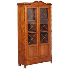 Antique Swedish Biedermeier Bookcase, Also Known as Karl Johan Style