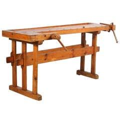 Antique Swedish Carpenters Workbench