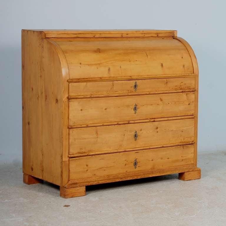 Antique Rolltop Pine Danish Roll Top Secretary At 1stdibs