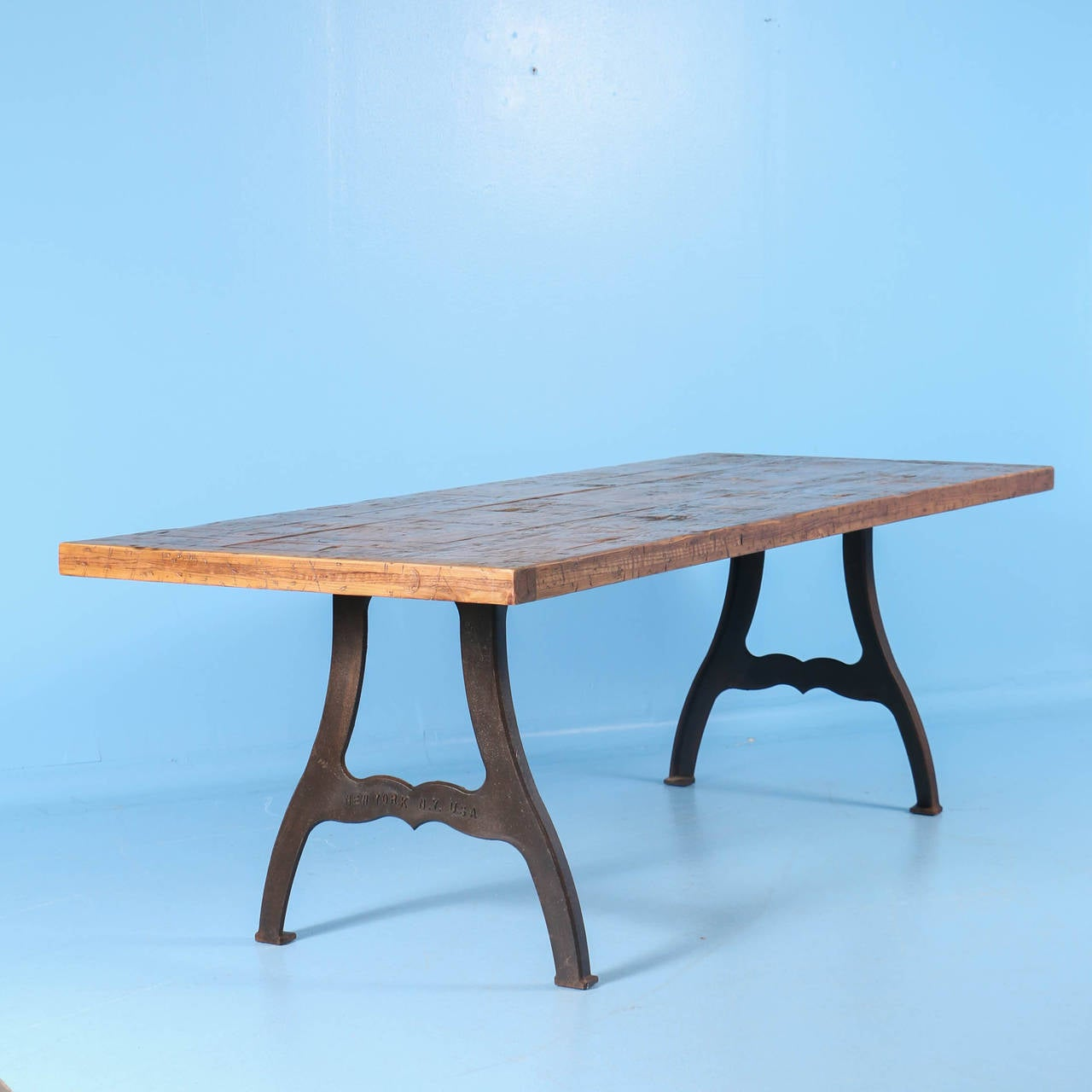 Vintage Industrial Look Dining Table From Reclaimed Wood