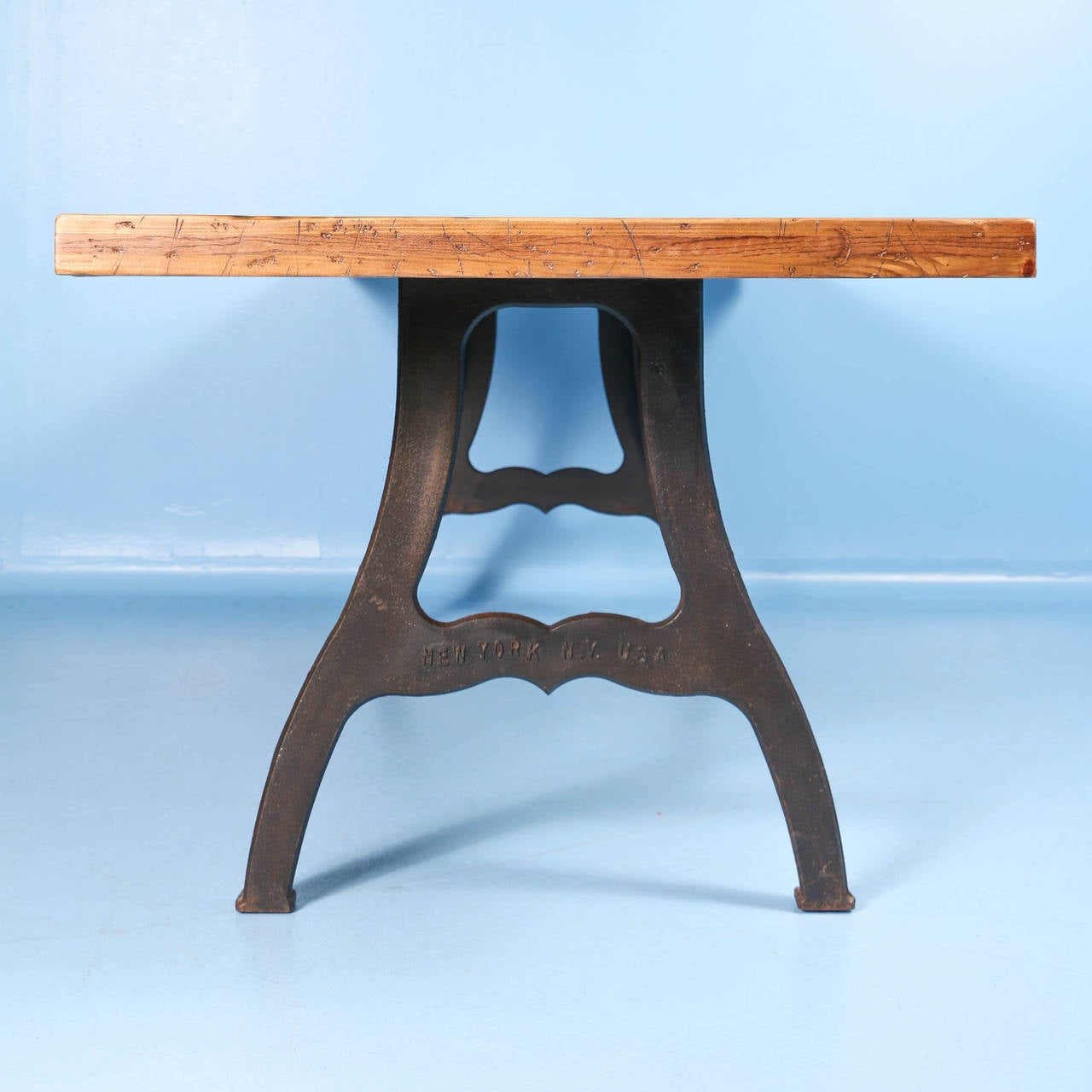 Vintage Industrial Look Dining Table from Reclaimed Wood ...