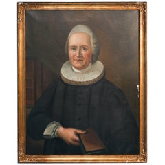 Original Oil on Canvas of Bishop Stephan Middelboe, Signed Svend Rønne 1937