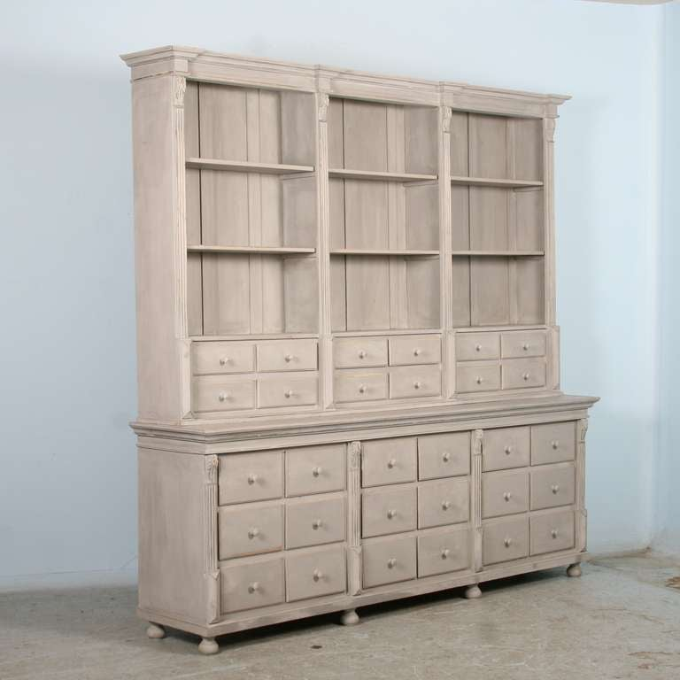 This Large Wall Unit Is A Reproduction Of The Style Shelving Units Called
