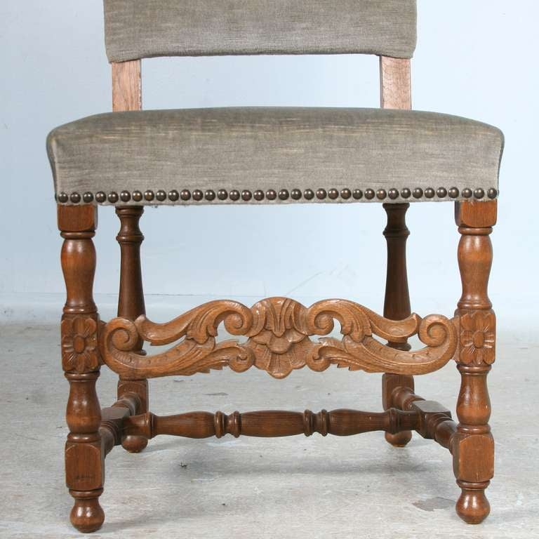 of 6 antique danish baroque high back dining room side chairs image 5
