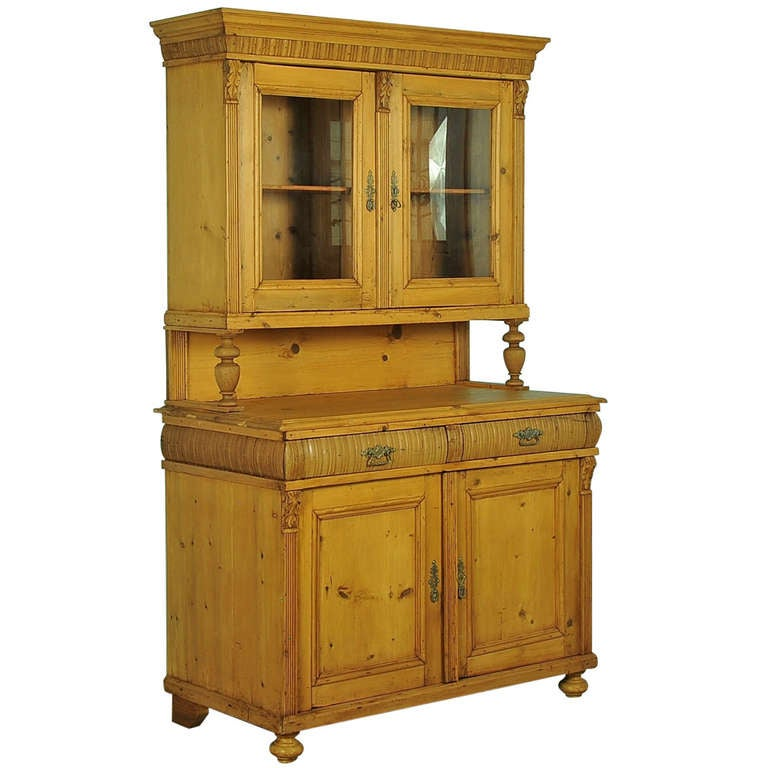 Romanian Antique Pine Cupboard 1 - Romanian Antique Pine Cupboard At 1stdibs