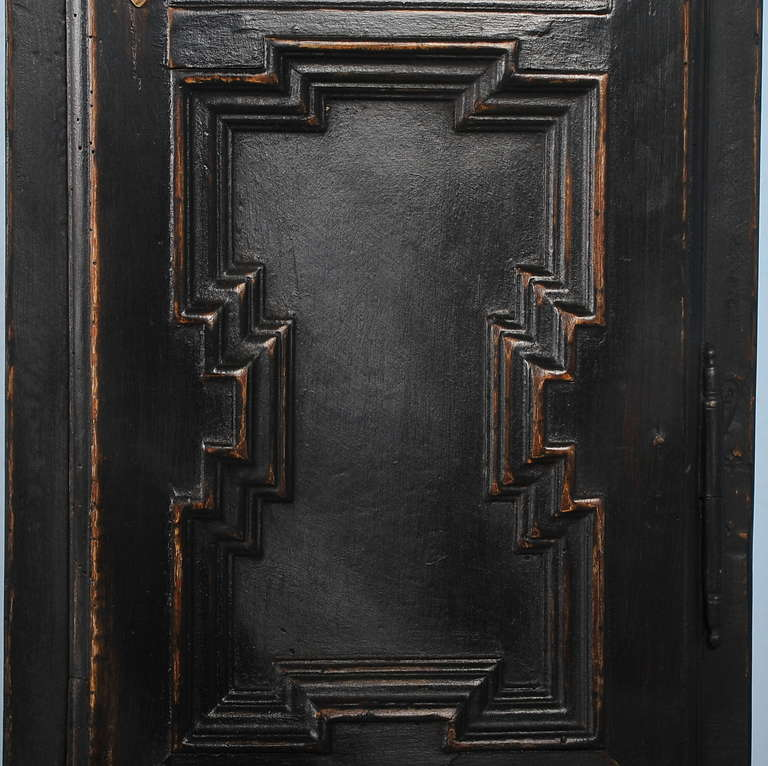 Antique Black Grandfather Clock, Denmark, circa 1820-1840 2