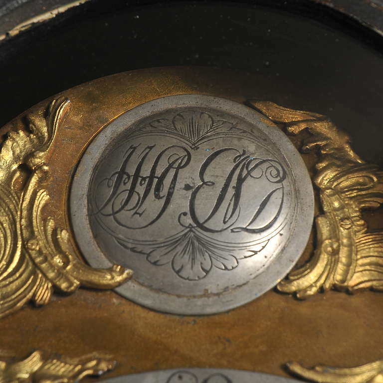 19th Century Antique Black Grandfather Clock, Denmark, circa 1820-1840