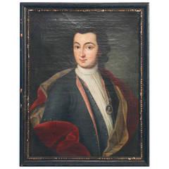 Portrait of a Distinguished Gentleman, Original Oil on Canvas Painting