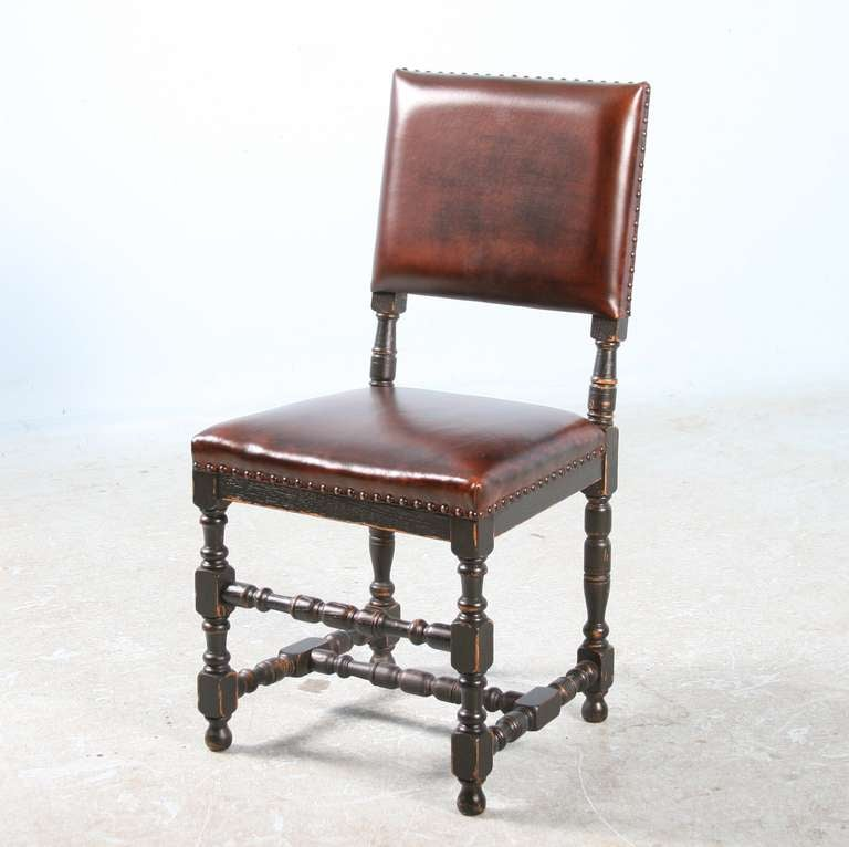 antique set of 8 danish baroque side chairs dining room chair set at 1stdibs. Black Bedroom Furniture Sets. Home Design Ideas