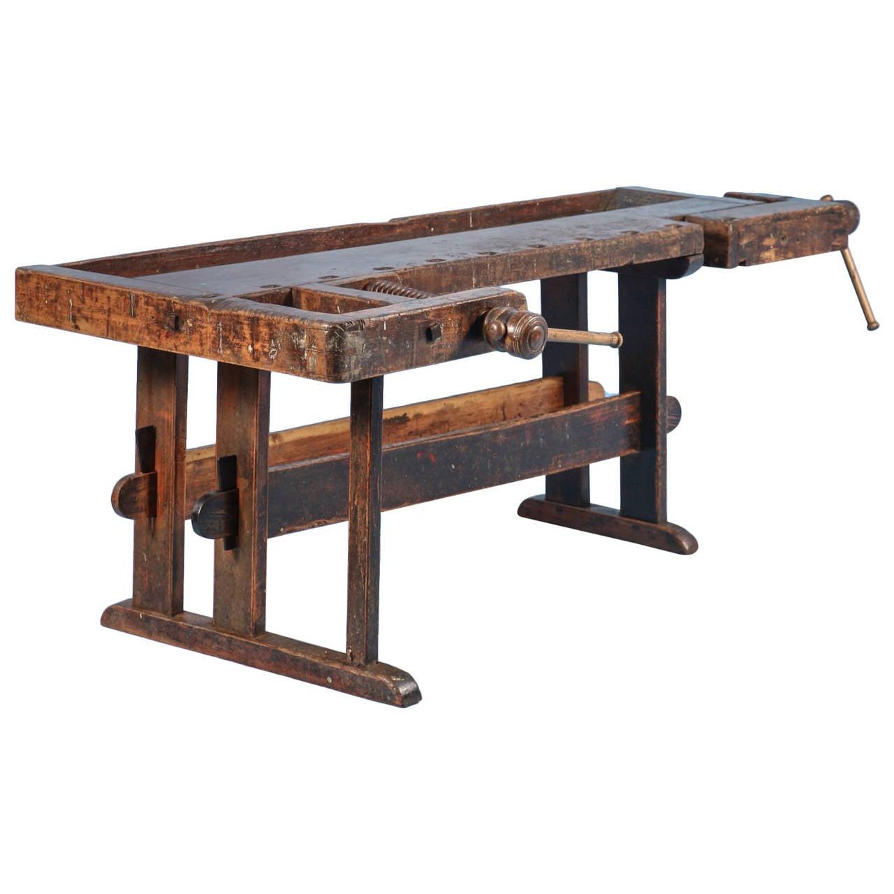 Antique Carpenter S Workbench Circa 1890 At 1stdibs