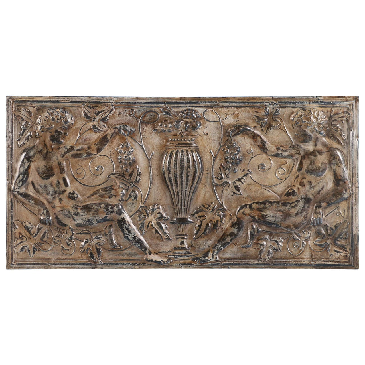 Vintage Pressed Tin Ceiling Panel Decorative Wall Hanging, circa 1920s ...