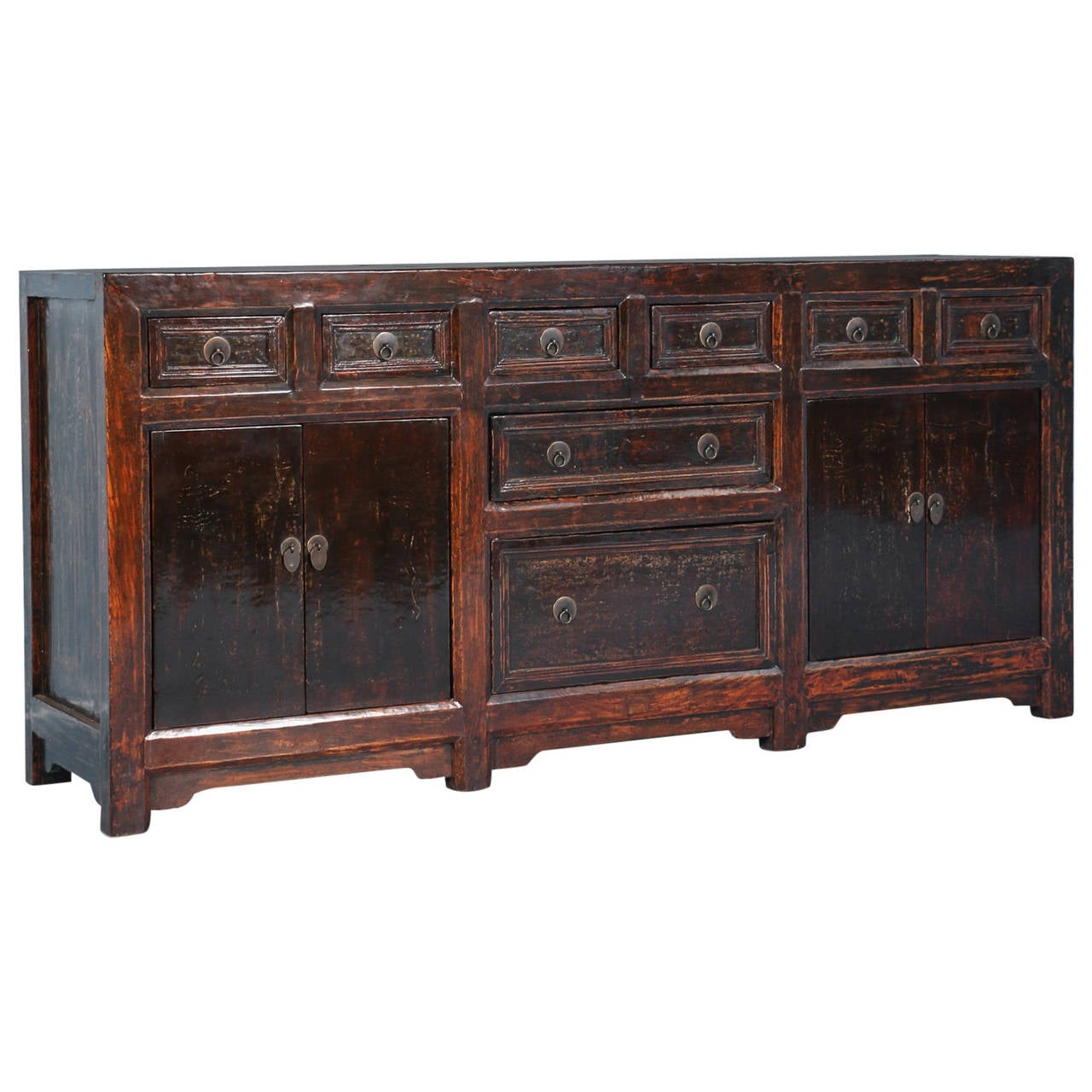 antique brown lacquered chinese sideboard circa 1840 at 1stdibs. Black Bedroom Furniture Sets. Home Design Ideas