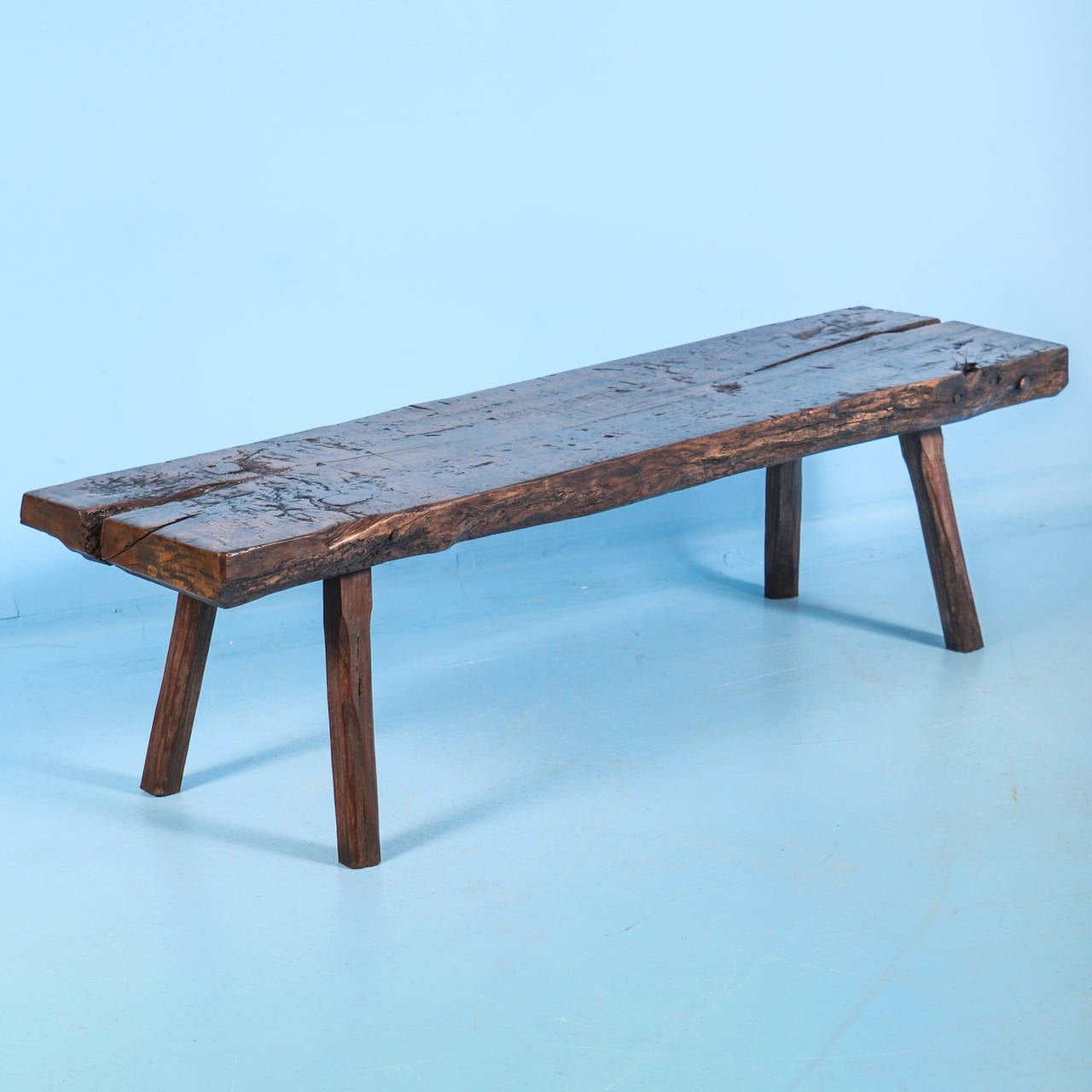 Rustic antique narrow coffee table circa 1820 1830 at 1stdibs One of a kind coffee tables