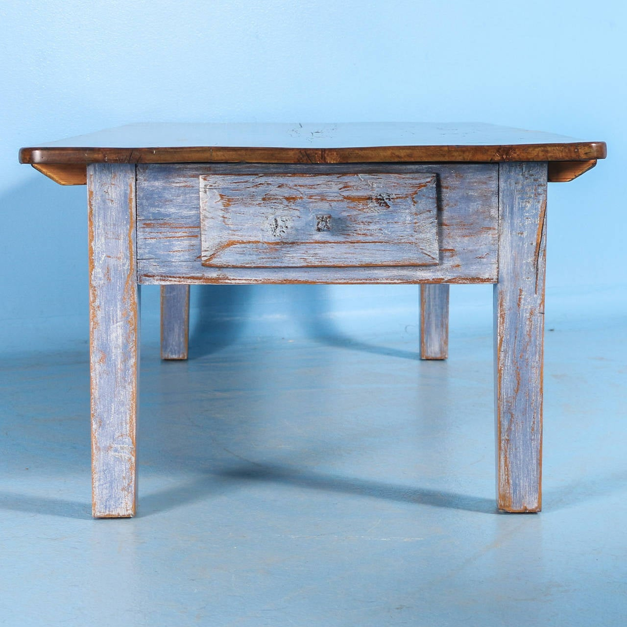 Antique Blue Swedish Pine Coffee Table Circa 1860 1880 At 1stdibs