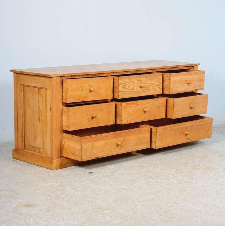Antique Danish Pine Grocers Desk Large Sideboard Kitchen