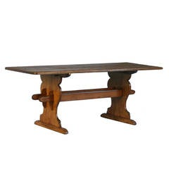 Antique French Farmhouse Trestle Table
