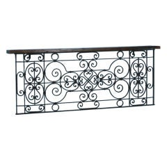 French Antique Narrow Iron Console