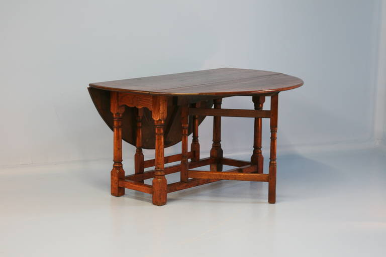 Antique English Gate Leg Drop Leaf Table Circa 1880 At