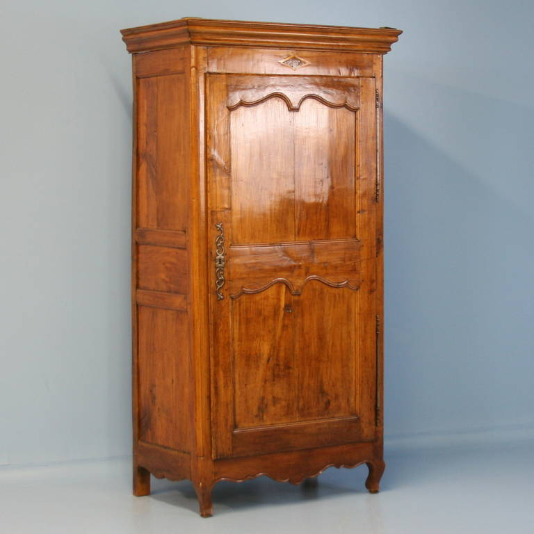 Gentil The Beautiful Cherry Wood Glows With Life In This Single Door Armoire From  France. Note