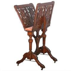 Antique Victorian Mahogany Music Stand circa 1850-70