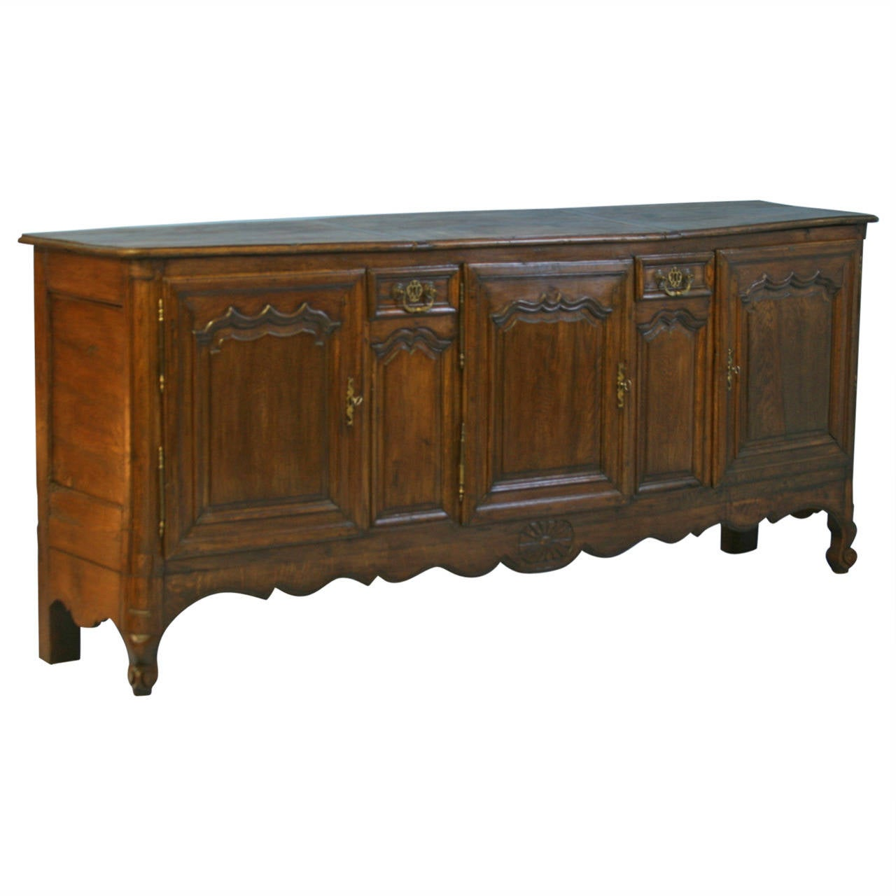 antique long french sideboard buffet circa 1780 1820 at. Black Bedroom Furniture Sets. Home Design Ideas