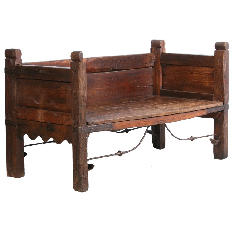 Antique Spanish Daybed, Circa 1800 For Sale - Antique Spanish Daybed, Circa 1800 At 1stdibs
