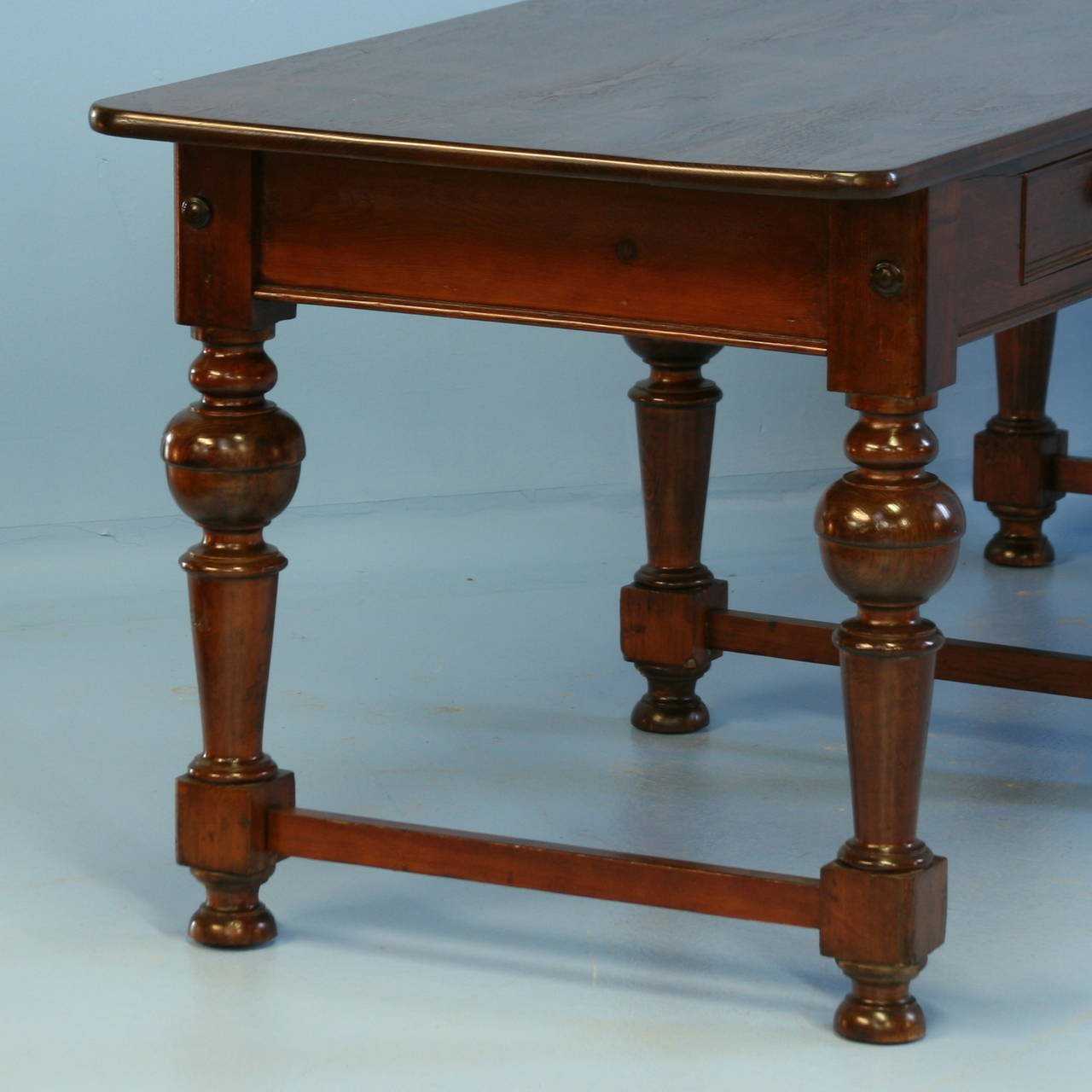 Long Sofa Table: Antique Long Library Table Console Table With 6 Legs