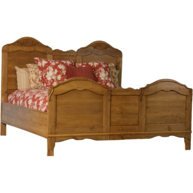 Antique Danish Pine King Size Bed At 1stdibs