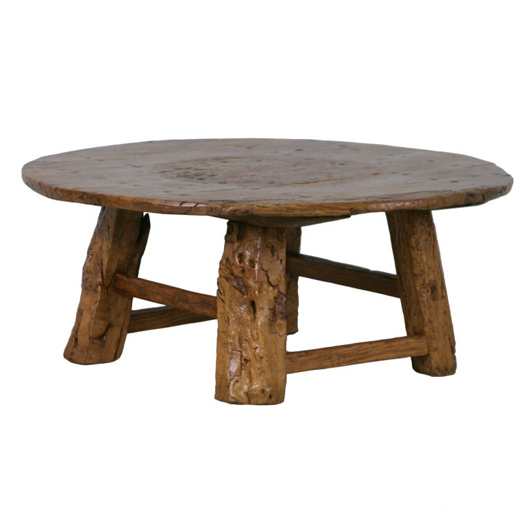 Antique Chinese Coffee Tables: Round Rustic Antique Chinese Coffee Table At 1stdibs