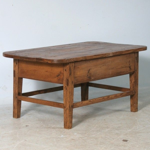 Danish Pine Small Scale Coffee Table With Drawer At 1stdibs
