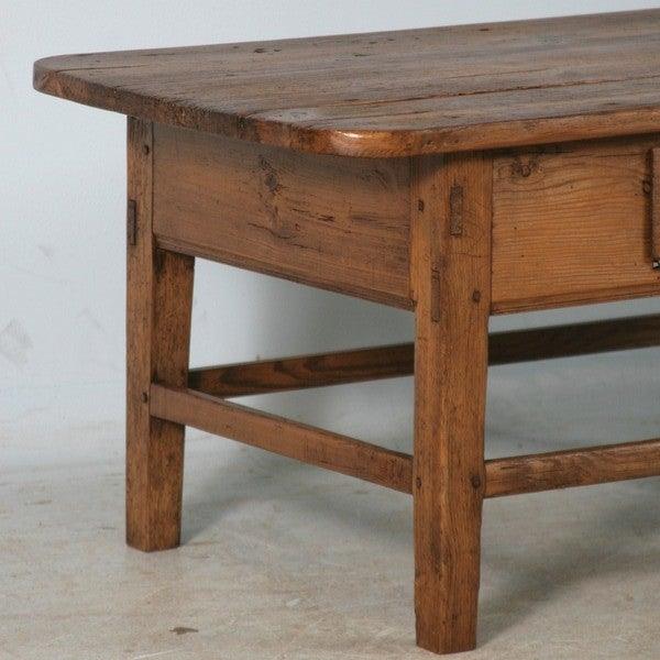 Danish pine small scale coffee table with drawer at 1stdibs Pine coffee table with drawers