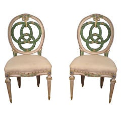 Set of Ten Italian Laurel Wreath Chairs