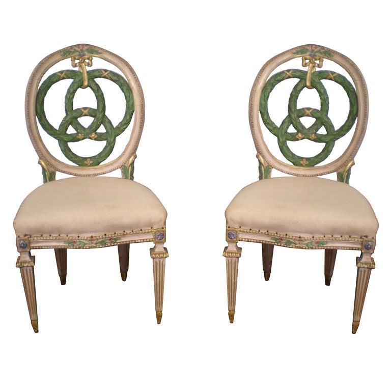 Set of Ten Italian Laurel Wreath Chairs