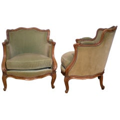 1930s French Pair of Bergeres