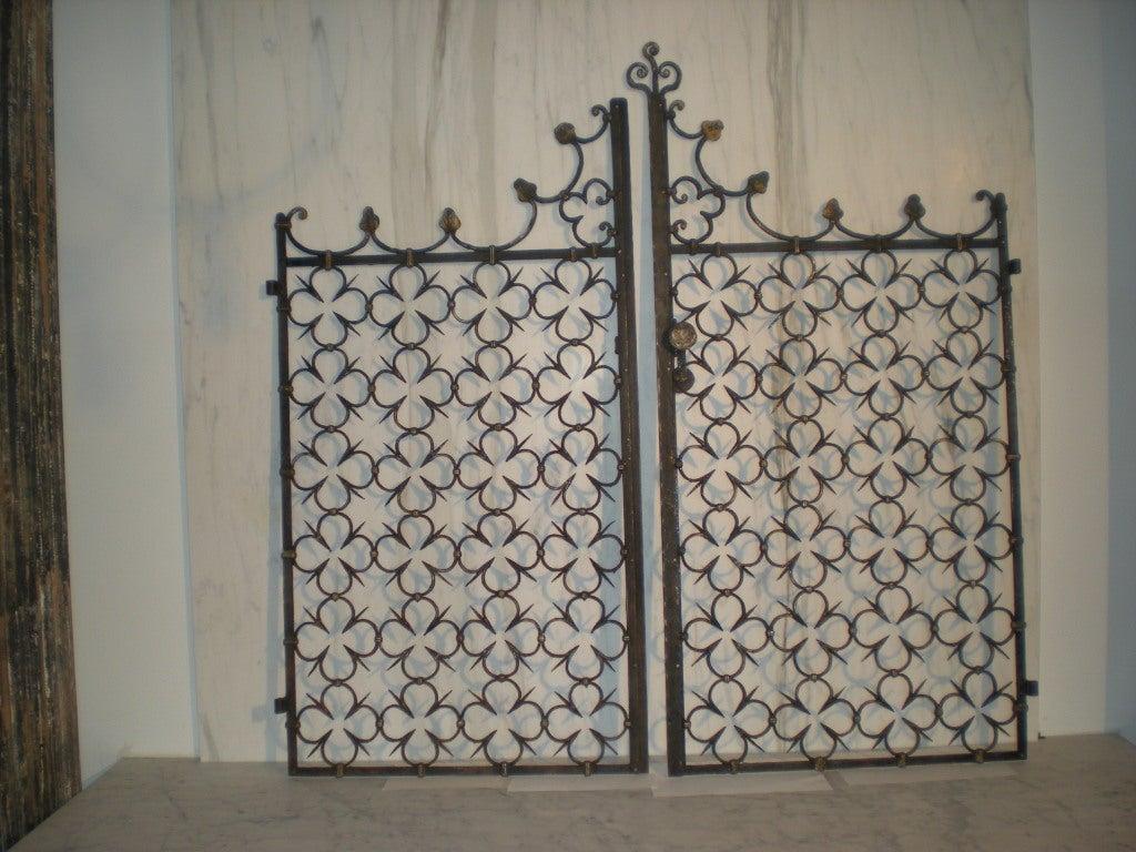 hand wrought iron gates at 1stdibs